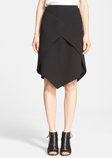 Tibi 'Anson' Stretch Wrap Skirt