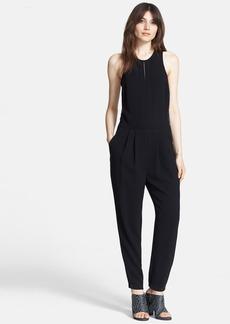 Tibi 'Arden' Lace Back Silk Crepe Jumpsuit