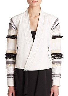 Tibi Arty Embroidered Blazer