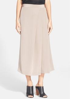 Tibi Asymmetrical Pleated Silk Culottes