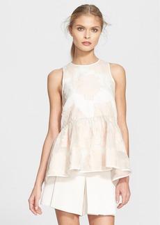 Tibi 'Ayame' Cotton & Silk Peplum Top