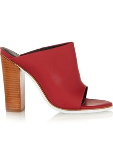 Tibi Bee rubber and leather mules