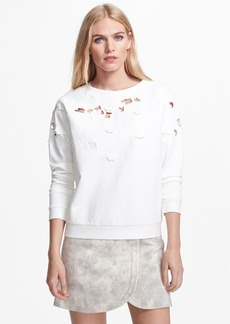 Tibi 'Blossom' Embroidered Cutout Detail Top
