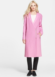 Tibi Bouclé & Felted Wool Blend Long Coat
