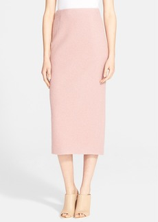 Tibi Bouclé Knit Wool Pencil Skirt