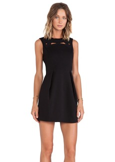 Tibi Boutis Embroidery Sleeveless Dress in Black