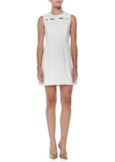 Tibi Boutis Sleeveless Embroidered Yoke Minidress