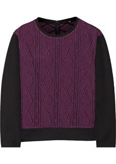 Tibi Cable-knit jacquard sweater