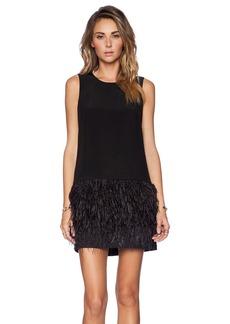 Tibi Cera Feather Dress