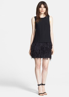 Tibi 'Cera Tuxedo' Ostrich Feather Dress