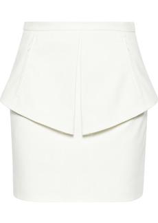 Tibi City cotton-blend twill peplum skirt