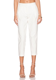 Tibi City Stretch Pleated Cropped Pant