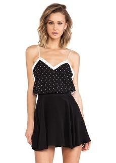 Tibi Colorblock Cami in Black & White