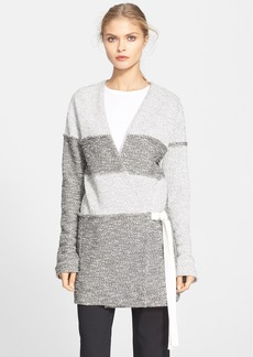 Tibi Colorblock Tweed Cardigan