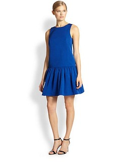Tibi Cotton & Silk Tied Open-Back Dress