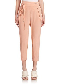 Tibi Cropped Silk Pants