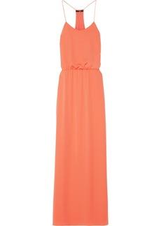 Tibi Draped washed-georgette maxi dress