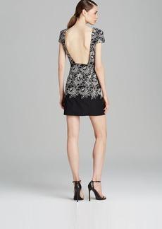 Tibi Dress - Embroidered Cutout Eyelet Cap Sleeve