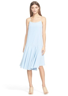 Tibi Drop Waist Silk Dress