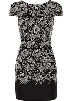 Tibi Embroidered cotton mini dress