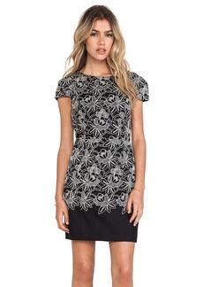 Tibi Embroidery Dress in Black