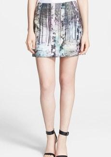 Tibi 'Enchanted Forest' Print Miniskirt