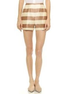 Tibi Escalante Stripe Shorts