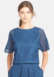 Tibi Eyelet Sweatshirt