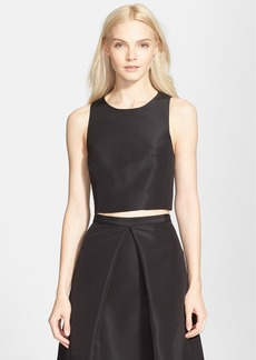 Tibi 'Faille' Silk Crop Top