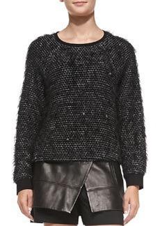 Tibi Fuzzy Tweed Sweatshirt
