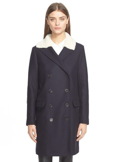 Tibi Genuine Shearling Car Coat
