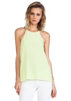 Tibi Halter Cami in Green