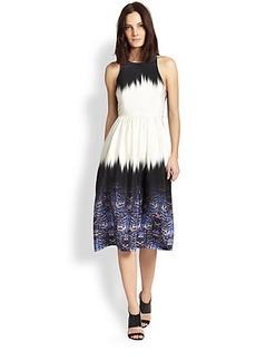 Tibi Ibis Border Cross-Back Dress