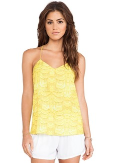 Tibi Ibis Cami Tank in Yellow