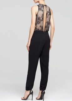 Tibi Jumpsuit - Arden Silk Crepe with Chantilly Lace