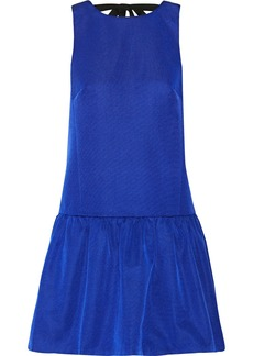Tibi Katia faille mini dress