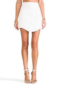 Tibi Katrin Paneled Skirt in White