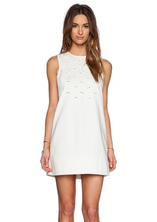 Tibi Lanyard Embroidery Shift Dress