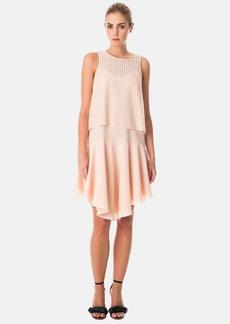 Tibi Laser Cut Sleeveless Popover Dress