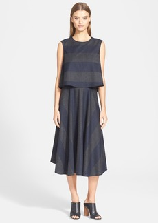 Tibi Layered Wool Blend Dress