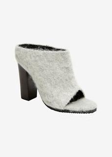 Tibi Leona Wool Sandal Slide: Grey