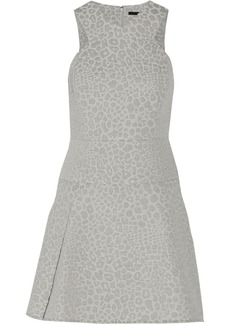 Tibi Leopard-jacquard mini dress
