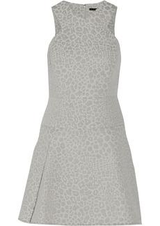 Tibi Leopard-jacquard mini dress