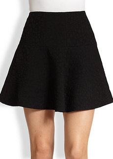 Tibi Leopard Jacquard Mini Skirt