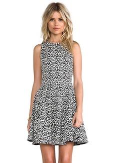 Tibi Leopard Knit Dress in Black