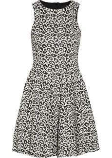 Tibi Leopard-patterned stretch-knit dress