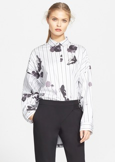 Tibi 'Lily Pad' Oversize Cotton Poplin Shirt