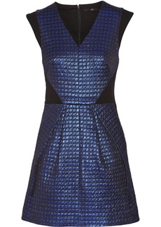 Tibi Metallic-jacquard mini dress