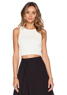 Tibi Mika Quilted Cropped Top