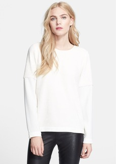 Tibi Mixed Media Sweatshirt